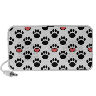 Paw Prints with Hearts Speaker