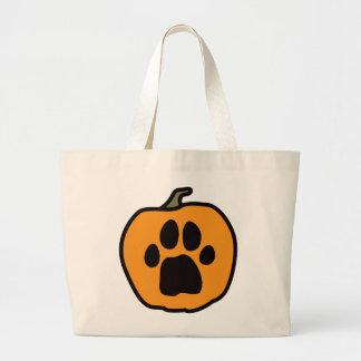 Paw Pumpkin Jumbo Tote Bag