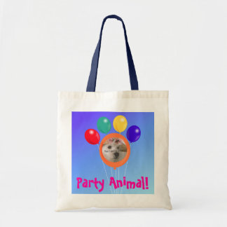 Paw-shaped balloon bouquet_Party Animal template Tote Bag