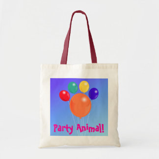 Paw-shaped balloon bouquet_Party Animal tote bag