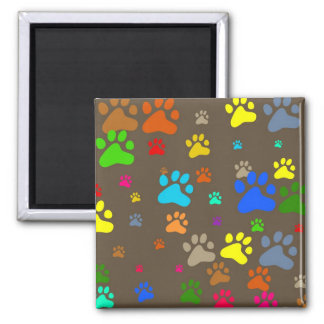 Paw Wallpaper Square Magnet