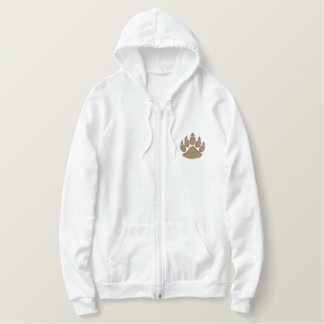 Paw with outline embroidered hoodie