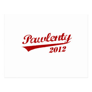 PAWLENTY 2012 JERSEY POSTCARD