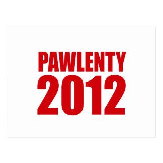 PAWLENTY 2012 POSTCARD