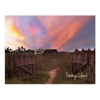 Pawleys Island Sunset Postcard