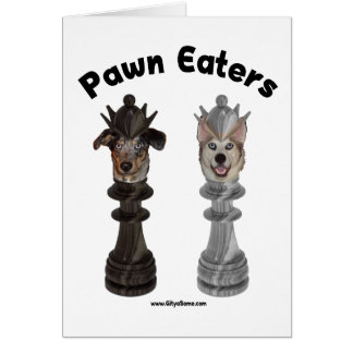 Pawn Eaters Chess Dogs Note Card
