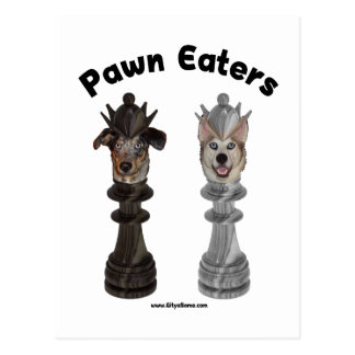 Pawn Eaters Chess Dogs Post Card