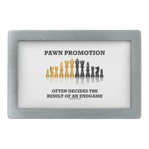 Pawn Promotion Often Decides The Result Of Endgame Belt Buckle