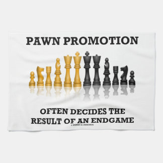 Pawn Promotion Often Decides The Result Of Endgame Kitchen Towel