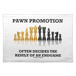 Pawn Promotion Often Decides The Result Of Endgame Place Mats