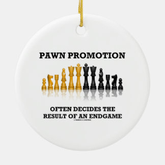 Pawn Promotion Often Decides The Result Of Endgame Round Ceramic Decoration