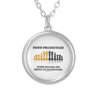 Pawn Promotion Often Decides The Result Of Endgame Round Pendant Necklace