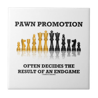 Pawn Promotion Often Decides The Result Of Endgame Small Square Tile