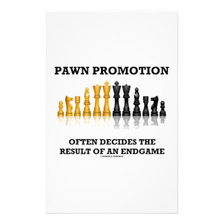 Pawn Promotion Often Decides The Result Of Endgame Stationery Paper