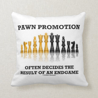 Pawn Promotion Often Decides The Result Of Endgame Throw Pillow