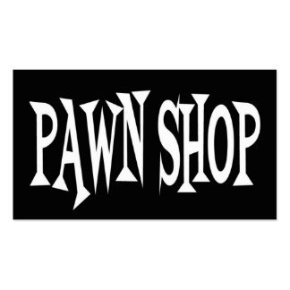 Pawn Shop Black and White Business Card