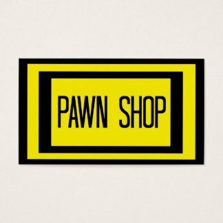 Pawn Shop Black and Yellow Business Card