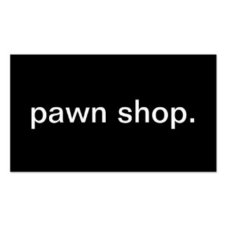 Pawn Shop Business Cards