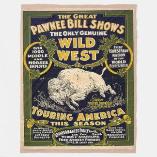 PAWNEE BILL Fleece Blankets