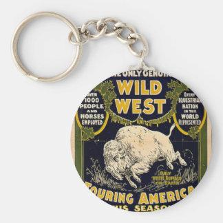 Pawnee Bill Shows Wild West Basic Round Button Key Ring