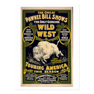 Pawnee Bill Shows Wild West Postcard
