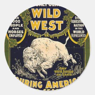 Pawnee Bill Shows Wild West Round Sticker