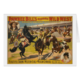 Pawnee Bill Wild West Show Greeting Card