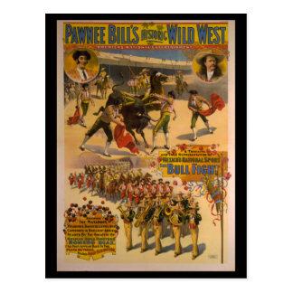 Pawnee Bill's Historic Wild West Poster Postcard