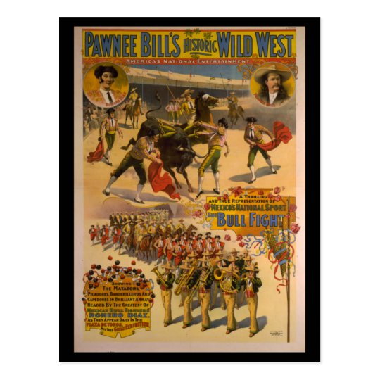Pawnee Bill's Historic Wild West Poster Postcard