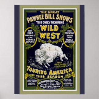 Pawnee Bill's Wild West Show Poster 11 x14