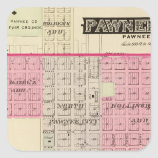 Pawnee City, Nebraska Square Sticker