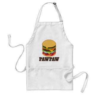 PawPaw Burger BBQ Grilling Grandpa Gift Standard Apron