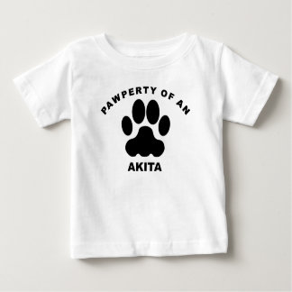 Pawperty Of An Akita Baby T-Shirt