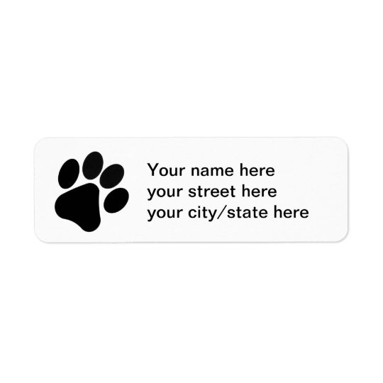 Pawprint address labels