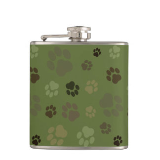 Pawprint Camouflage Flask