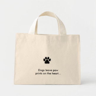 pawprint, Dogs leave paw prints on the heart... Tote Bag