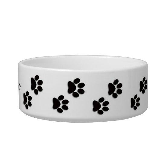 Pawprint Pet Food Bowl