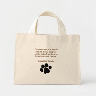 PawPrintGhandi Canvas Bags