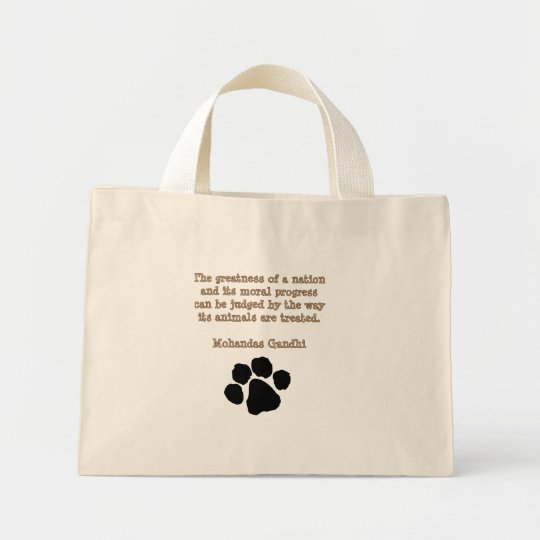 PawPrintGhandi Mini Tote Bag