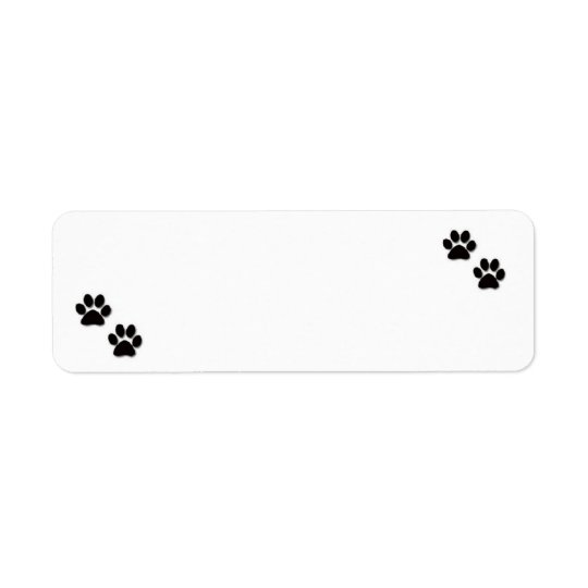 """Pawprints"" Address Labels"