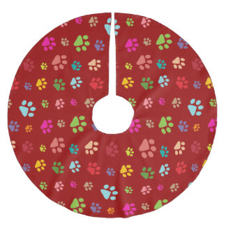 Pawprints Design Tree Skirt