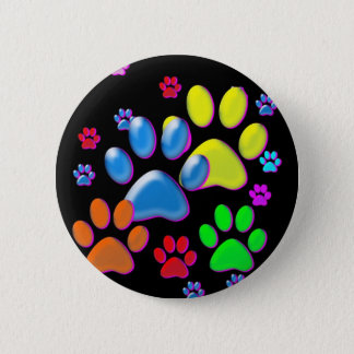 Paws 6 Cm Round Badge