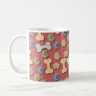 Paws and Bones Peach Mug