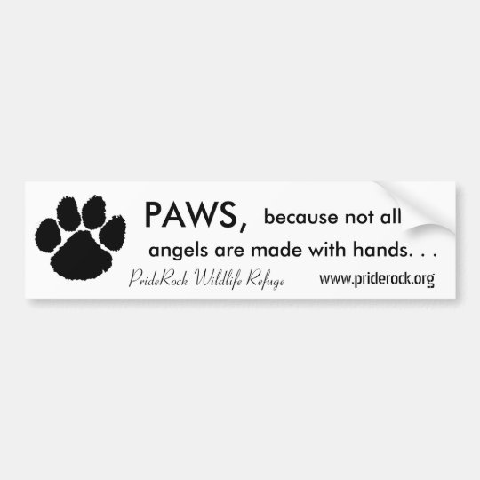Paws and Hands Bumper Sticker