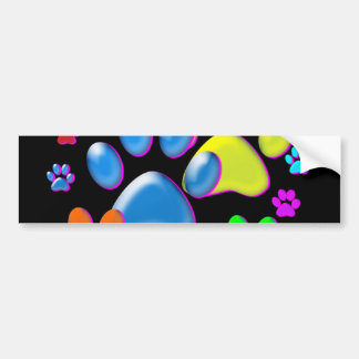Paws Car Bumper Sticker