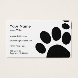 Paws Custom Color Business Card