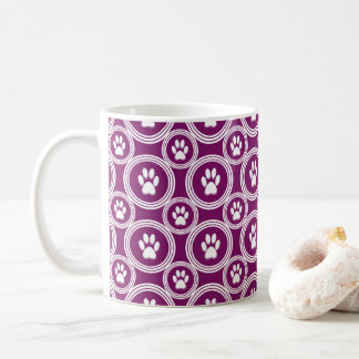 Paws-for-Coffee Mug (Plum)