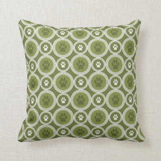 Paws-for-Décor Pillow (Olive)