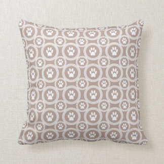 Paws-for-Décor Pillow  (Taupe)