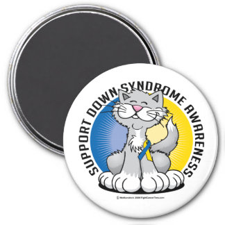 Paws for Down Syndrome Cat Refrigerator Magnets